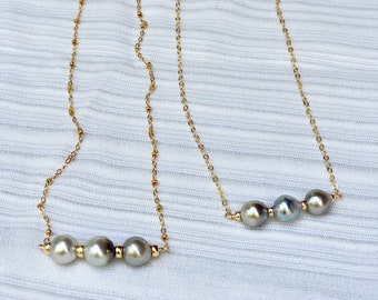 RTS Silver Tone Tahitian Pearls