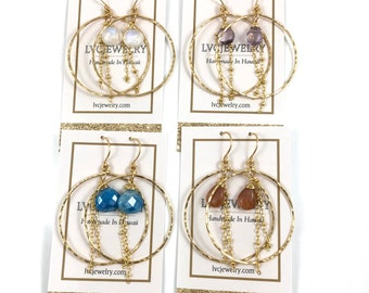 KARA Gemstone Hoops