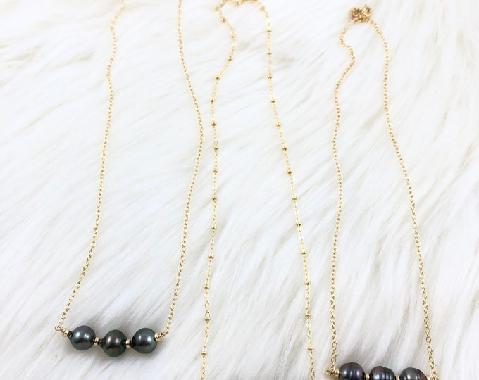 One of a kind triple pearl necklaces