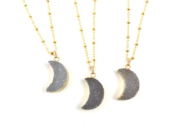 To the Moon and Back Druzy