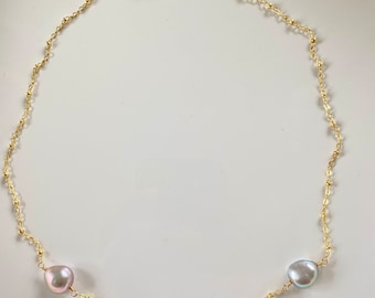 Rainbow freshwater Pearl necklace