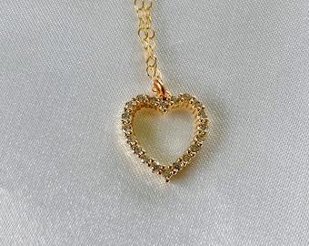 Love You CZ necklace