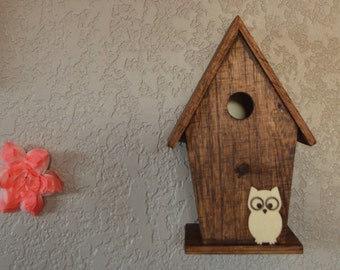 Rustic Owl Woodland Nursery Birdhouse Nightlight
