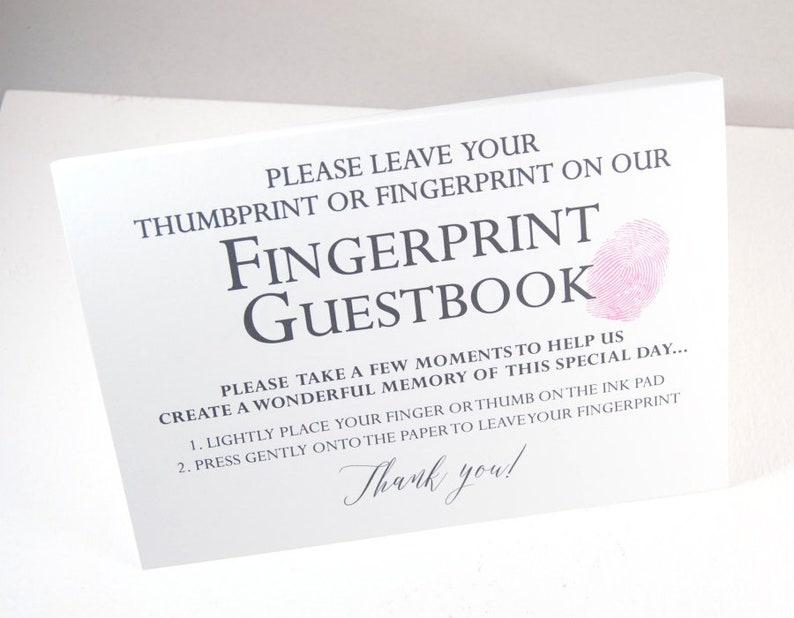 Fingerprint Guestbook Pine Tree Thumbprint Alternative Guest Book Rehearsal Dinner Party Supplies Wedding Guestbooks Bridal Showers