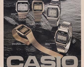 1c4884352 Casiotron Wristwatch - Vintage print ad from Asia - Casio Watch