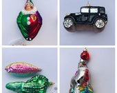 Christopher Radko Ornaments, Clown, Car, Fish, Alligator, Seal