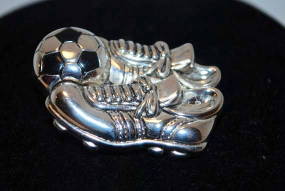 Soccer Ball Pendant and brooch, Soccer Necklace, P