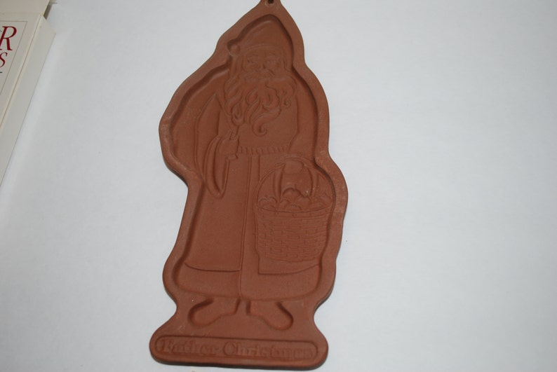 Sale Vintage Longaberger Cookie Mold Father Christmas Cookie Chocolate Soap Mold Supply Cookie