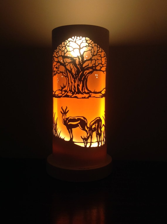 Springbok African Table Lamp, African Table Lamps