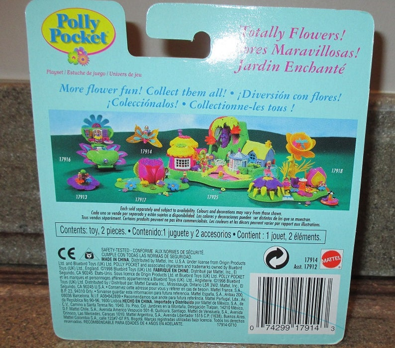 17914 1998 Bluebird Toys c - Playset Collectible Toy Vintage POLLY POCKET BUTTERFLYER Mariposa New in Pkg