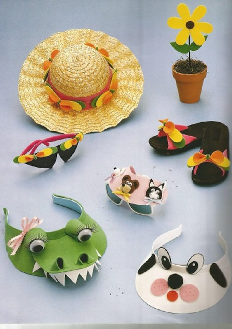 Animal Visors Key Chain Sunflower Book Mark Vintage The FUN FOAM BOOK Picture Frames Daisies Headband.. 47 Exciting Projects