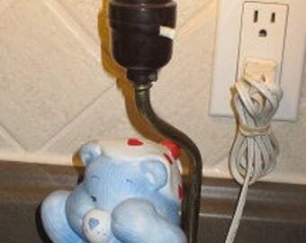 Vintage CARE BEARS Lamp - BEDTIME Bear Ceramic Lamp - C. 1983 - Good Working Condiiton