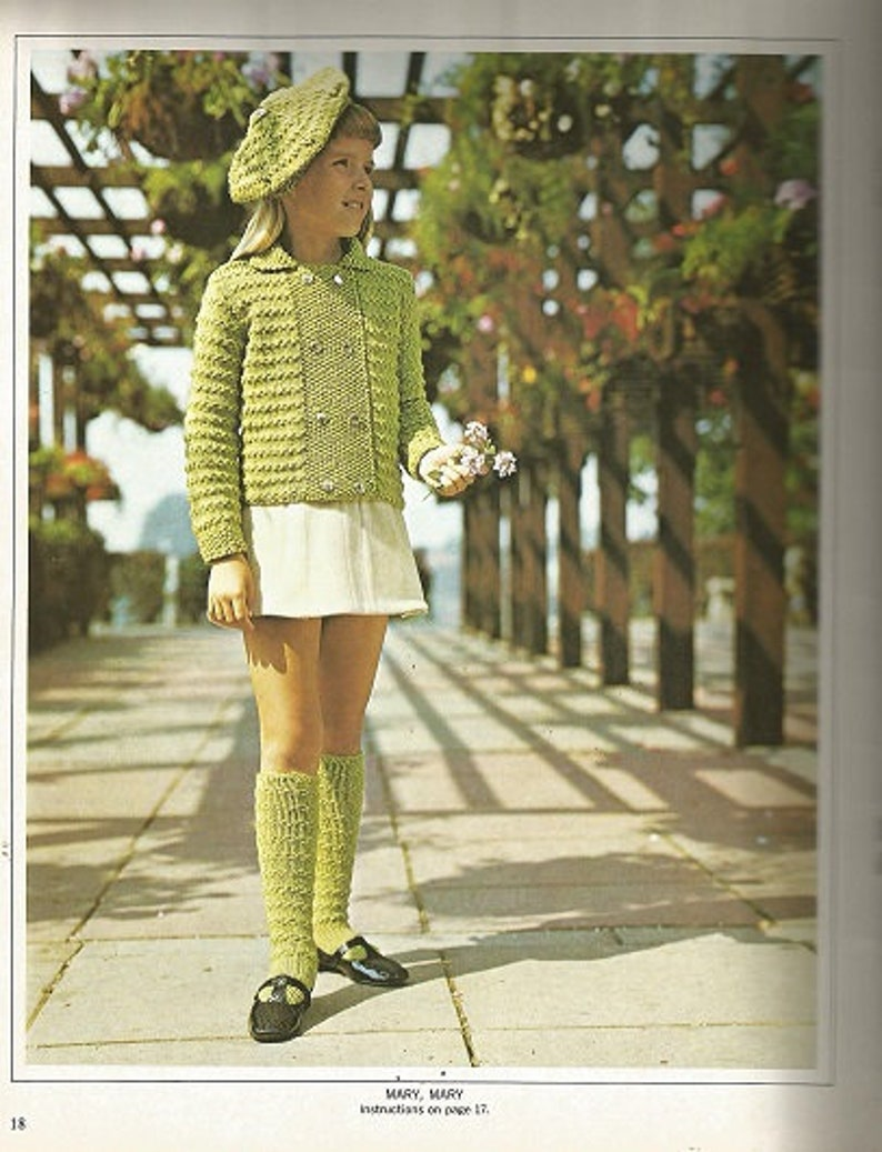 Vintage BONNIE KNITS by Lady GALT Knitting c Volume 38 Twenty Designs for Younger Set Children/'s Patterns Sweaters... 1968