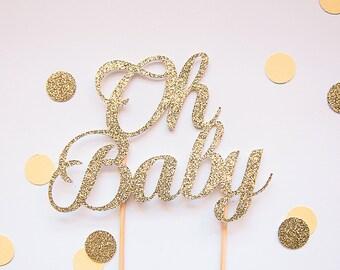 Oh bébé gâteau de paillettes d'or (couleurs personnalisées disponibles)
