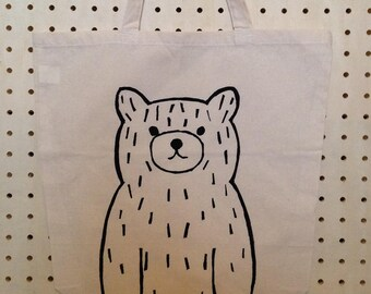 Bear Tote Bag - Bear Print - Tote bag - Bear Bag