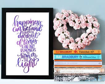 Harry Potter Quote Print - Harry Potter Gift - Literary Wall Art - Albus Dumbledore Quote - Harry Potter Print - Inspirational Quote