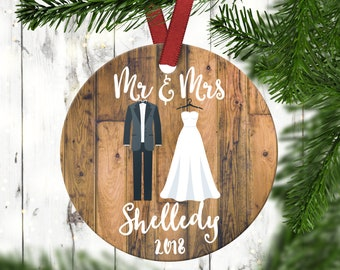 our first christmasnewly wed giftwedding giftchristmas giftpersonalized giftcustom christmas ornament