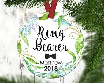 Ring Bearer Christmas Ornament.Ring Bearer Christmas Gift.Ring Bearer Gift.Christmas Ornament.Personalized Christmas Ornament
