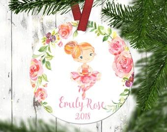 Girl's Christmas ornament.Dance Christmas Ornament.Ballerina Ornament.Christmas ornament.Personalized Christmas ornament
