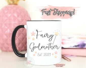 Personalized Godmother Gift. Fairy Godmother Coffee Mug.