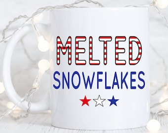 Melted snowflakes.Liberal tears.Conservative coffee mug.funny coffee mug.Coffee mug.coffee cup.Mugs with sayings.DISHWASHER SAFE