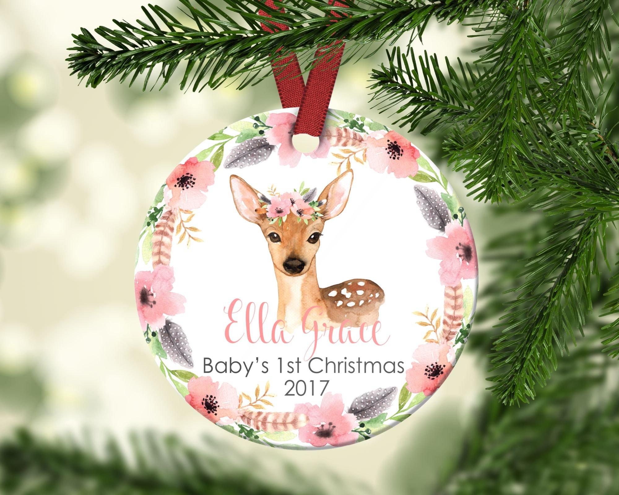 Baby s first Christmas ornament Baby Deer Christmas