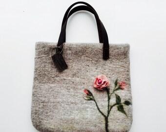 Sac cabas rose, fleurs, conception exclusive art sac d'auteur, style eco, eco bag,