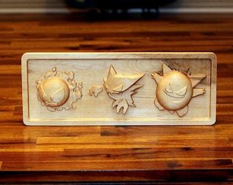 Hardwood Gastly, Haunter, Gengar Trio Evolution