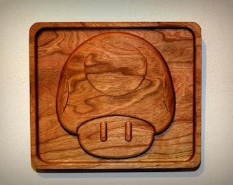"Hardwood Level Up Mushroom (8"")"