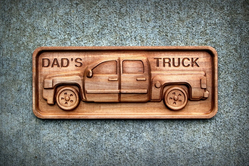 Chevy Truck in Hardwood Maple 4.5 x 11 image 0