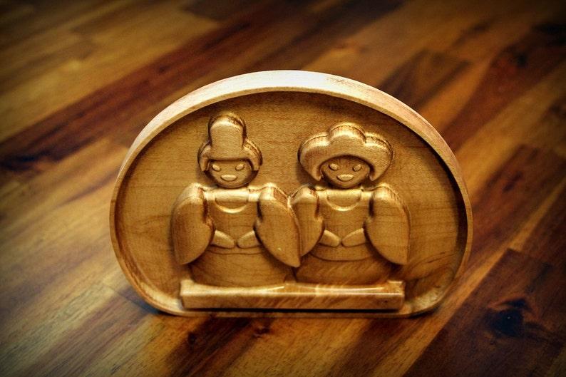 Wooden Japanese Dolls Emoji 5 image 0