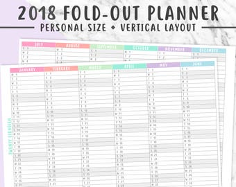 Happy Planner 2017 2018 2019 2020 Year on One Page Year