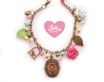 Charm Bracelet / kawaii jewelry / vintage style / SPRING COLORS