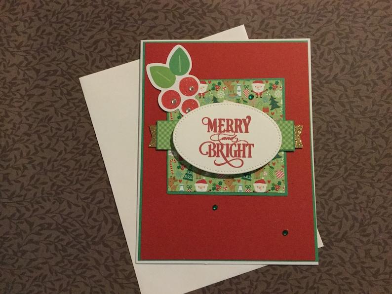 Handmade Christmas Greeting Card Cute Whimsical Mistletoe Etsy