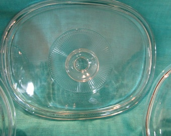 Vintage Pyrex Replacement Lid DC1.5C   A with Sunburst and LARGE Knob
