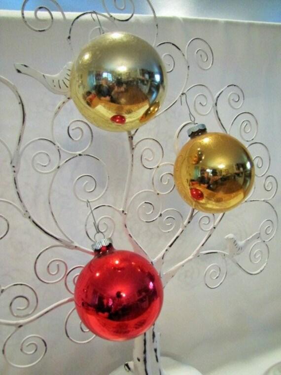 Large Christmas Ornaments.3 Vintage Shiny Brite Large Christmas Tree Ornaments