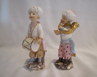 Vintage Thames Turbined Musician Figurines Made in Japan Nativity Figurines