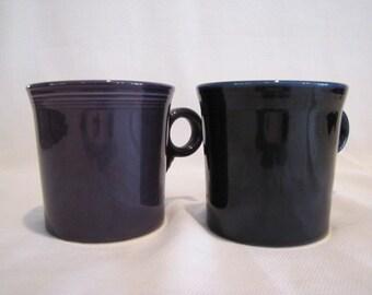 Fiesta Mugs Cups Blue and  Purple