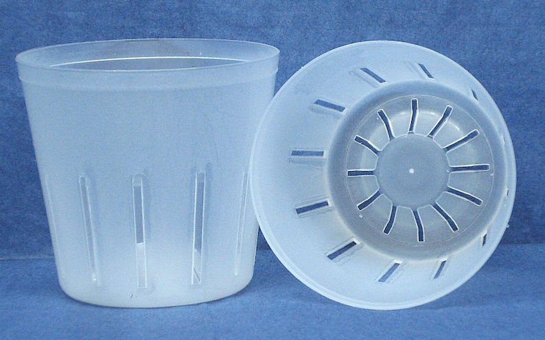 Clear Plastic Pot For Orchids 3 Inch Diameter Quantity 2 Etsy