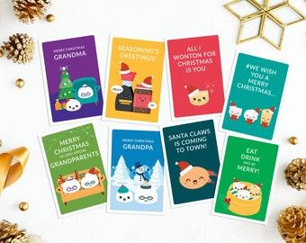 Dim sum Christmas card - greeting card - cute - funny - puns