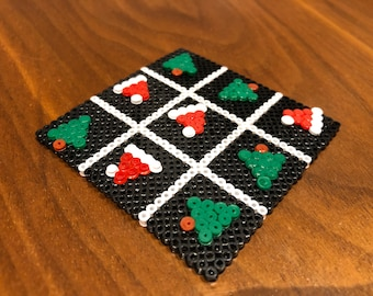 Cute festive  hama beads Christmas tic tac toe - stocking
