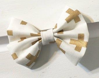 Fabric hair bow, fabric hair bows, bows, toddler bows, infant bows, nylon baby headbands, nylon headbands, clip in bows