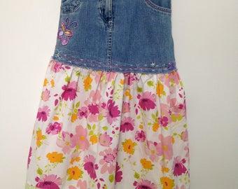 Love, Butterflies n'Flowers Denim Refashioned Skirt