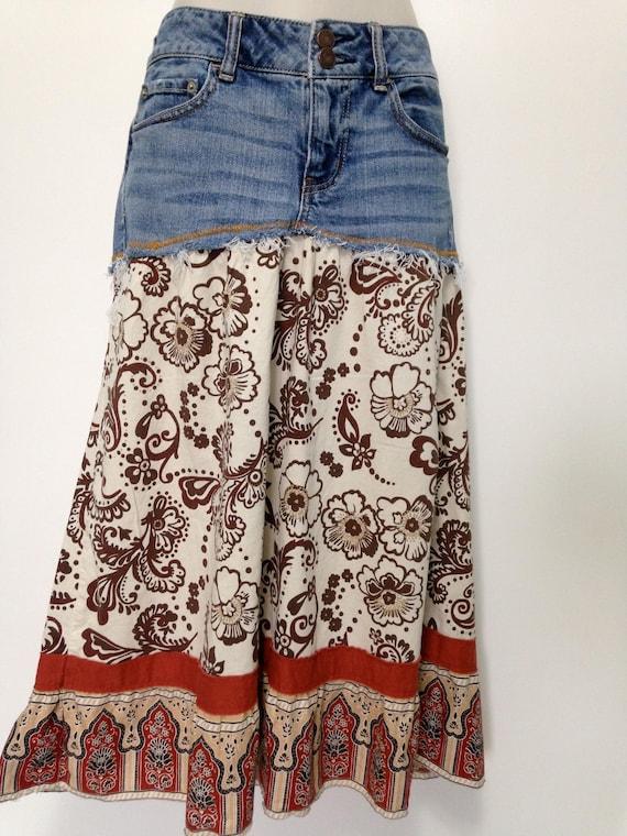 Refashioned American Eagle Skirt Knee Length