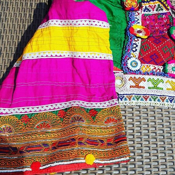 kuchi afghan dress, color pink. ethnic dress - image 3