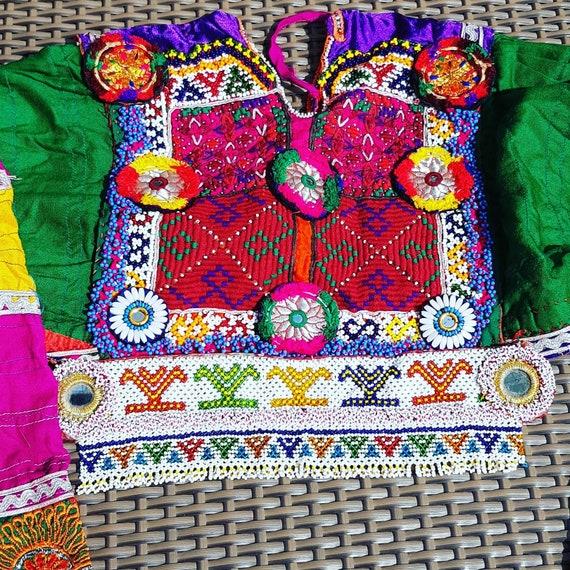 kuchi afghan dress, color pink. ethnic dress - image 2