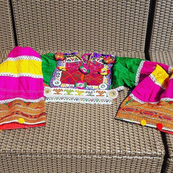 kuchi afghan dress, color pink. ethnic dress - image 1