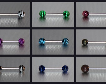 Zebra Stripe Barbell