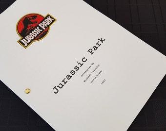 Jurassic Park Film Script Movie Unique Gift Christmas Xmas Present TV Screenplay Geek Dinosaur 90s Sam Neill Retro 1990s T Rex