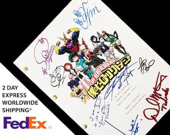 My Hero Academia TV Script Screenplay Signatures Autograph Reprint MHA Izuku Justin Briner Daiki Yamashita Chris Sabat David Matranga